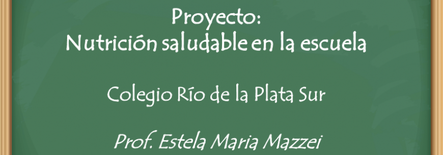 proyecto de alimentación saludable para niños de primaria